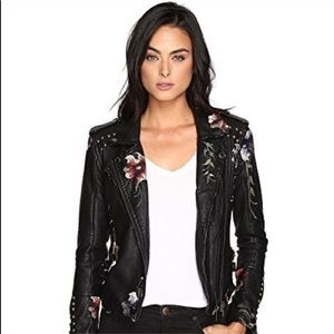BlankNYC embroidered floral jacket
